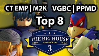 The Big House 3 - VGBC | Dr PeePee (Falco Marth) Vs CT | Mew2King (Marth Sheik) SSBM Win Semi Melee