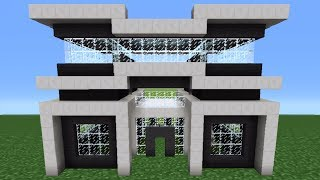 Minecraft Tutorial: How To Make A Quartz House - 3